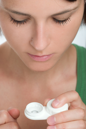 What is the danger of not taking off my contact lenses?